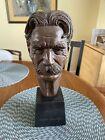 ALBERT SCHWEITZER mid-century modern bust sculpture, Leo Cherne, 1955 humanities