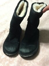 Ugg boots girls size 11 black side zip boots