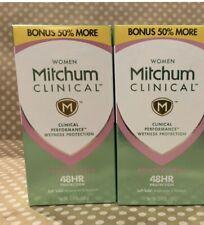 Mitchum Women Clinical Powder Fresh Antiperspirant/Deodorant 2.4oz Lot Of 2