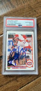 1990-91 UPPER DECK SIGNED CARD PATRICK ROY CANADIENS AVALANCHE PSA/DNA #153