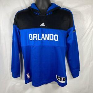 Adidas Orlando Magic Youth Large Hoodie Blue & Black NBA Basketball Sweatshirt