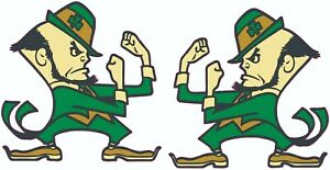 Notre Dame Fighting Irish Inspired 8x8 Size Football Helmet Decals