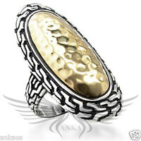 Ladies' Two Tone Gold Plated Classy Fashion Ring No Stone 5 6 7 8 9 10 6X085