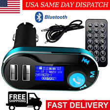 Bluetooth Car FM Transmitter MP3 Player Radio Adapter Kit Charger w/ LCD Remote