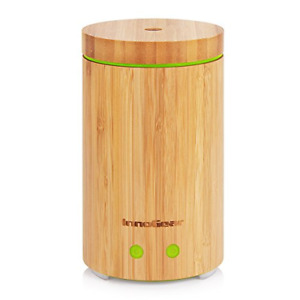 InnoGear Real Bamboo Essential Oil Diffuser, Ultrasonic Aromatherapy Diffusers