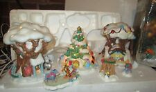 DISNEY 'CHRISTMAS IN THE 100 ACRE WOOD 6 PIECE LIGHTED VILLAGE WINNIE THE POOH