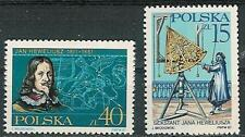 Poland stamps MNH (Mi. 3116-17) J. Hevelius