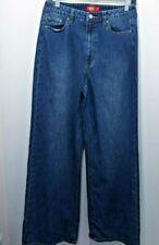 Dickies Girl Juniors' 5-Pocket High Rise Jeans Wide Leg Skater Pants Sz 7/28 Blu