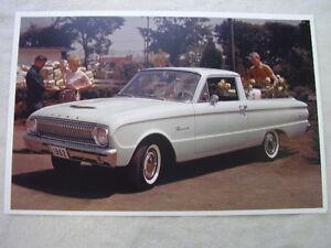 1962 FORD  FALCON  RANCHERO  11 X 17  PHOTO  PICTURE