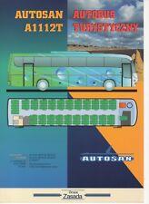 Autosan A 1112 T bus (made in Poland) _1998 Prospekt / Brochure