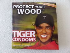 """TIGER WOODS CONDOMS, """"Protect Your Wood"""" SPECIAL EDITION, Approved for Swingers!"""