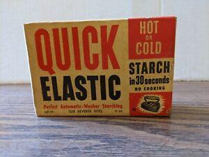 Vintage Unopened Box of Quick Elastic Starch