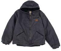Carhartt Mens Sandstone Sierra Jacket Washed Gray Size 2XL Sherpa Lined $110 707