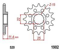 KR Ritzel 14Z Teilung 520 Sprocket KTM Adventure Duke EGS Enduro EXC LSE LC4 MCX