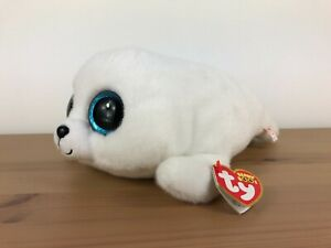Ty Beanie Boos Icy White Seal Plush Soft Toy - Medium 12 inches - with swing tag