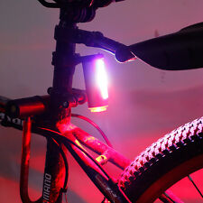 Bicycle MTB Bike Cycling 360 Degree Tail Rear LED Light USB Rechargeable 7 Modes