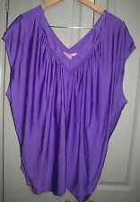 New Shilla Designer Purple Size 10 12 Low V Panel Ruched Back Oversize Top