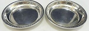 S/2 ROUND CURRIER & ROBY NEW YORK STERLING SILVER BUTTER PAT DISH NO MONOGRAM