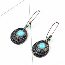 Fashion Retro Women Boho Blue Turquoise Long Ethnic Party Earrings Ear Drop BS