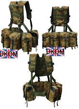 UKOM AUSCAM Airborne Webbing 4 Utility / 2 Ammo Pouch - PLCE Infantry New w002