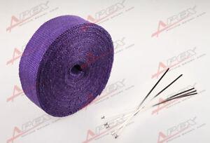 "FIBERGLASS Exhaust Thermo Wrap Tape High Heat 2"" x 1/16X25FT Cloth Roll PURPLE F"