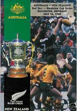 AUSTRALIA v NEW ZEALAND 2ND TEST RUGBY PROG, BALLYMORE, BRISBANE 16th July 1988