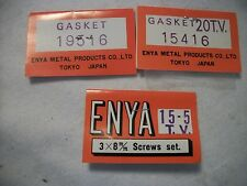 ENYA .15-.19 GASKET & SCREW SET NIP  (MUST GIVE ENGINE SIZE AND MODEL#!!!)