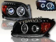2006-2008 TOYOTA RAV4 LED HALO PROJECTOR HEADLIGHTS BLACK