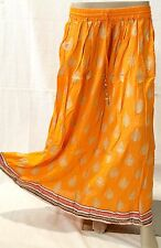 Indian Long sequin Skirt Lehanga Print Lace Langa Boho Belly Dance Hippie Gypsy