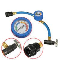 R134A Manómetro Coche Aire Acondicionado Refrigerante Recarga Manguera Kit A/C