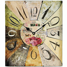 Ams 44 Quartz Horloge murale Shabby Chic Montre en Métal Déco de bureau 646