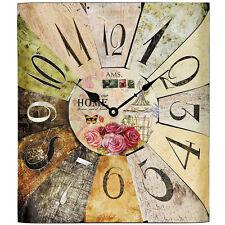 Ams 44 Wall Clock Quartz Shabby Chic Metal Deco Watch Office 646