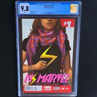 MS. MARVEL #1 💥 CGC 9.8 White 💥 KAMALA KHAN BECOMES the NEW MS. MARVEL! 2014