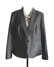 M&S Short Smart Occassion JACKET in Navy Blue Mix ~ Size 20 ~ VGC