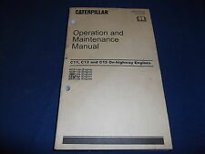 CATERPILLAR C11 C13 C15 ENGINE OPERATION & MAINTENANCE MANUAL SN KCA KCB BXS JAM