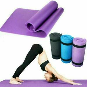 6mm Thick Yoga Mat Exercise Fitness Pilates Camping Gym Meditation Pad Non-Slip~