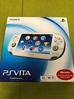 Sony PlayStation PS Vita Slim Crystal White Slim PCH-1100 AB02 From Japan F/S