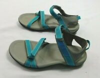 Teva Sandals Womens Size 6 Straps Gray Blue Outdoors Hiking Camping