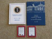 George W Bush White House Issue Presidential Seal Press Kit and Travel books R