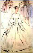 Vintage 50's BUTTERICK 8704 WEDDING DRESS BRIDAL GOWN PROM -Sewing Pattern B32