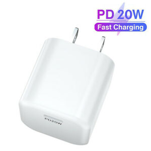 20W PD Power Adapter Type-C For iPhone 13 Pro/11/12 Pro Max/XR/iPad Fast Charger
