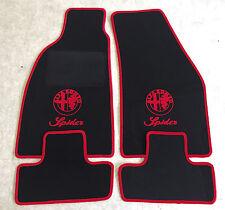 Autoteppiche Fußmatten für Alfa Romeo Spider Typ 916 ab 94' Logo Schrift rot Neu