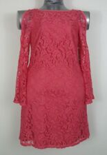 Adrianna Papell size 10 red lace cold shoulder long sleeve dress Valentines Day?