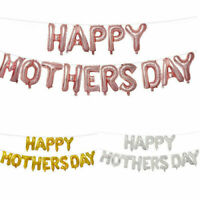 """16"""" Rose gold Happy Mothers Day Balloons Party Supplies Decor I Love Mom Mum"""