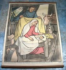 "Rollkarte "" Geburt Jesu in Bethlehem "" Willi Harwerth Religion Herder EB 264"