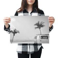 A3 - Cool Camper Surf Van Surfing Travel Poster 42X29.7cm280gsm(bw) #41076