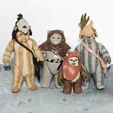 Vintage STAR WARS Figuren Ewoks Logray | Chief Chirpa | Teebo | Wicket • KENNER