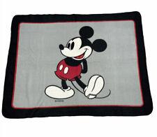 """Euc Disney Mickey Mouse Fleece Blanket 43""""x55"""" Bedding Throw Cover"""