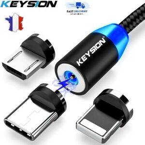 Câble USB Magnétique LED Type-C Micro USB Ios Iphone Samsung  Chargeur Rapide