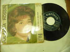"JOLANDA ROSSIN""TANGO DELLA GELOSIA-disco 45 giri CARISH It 1962"""